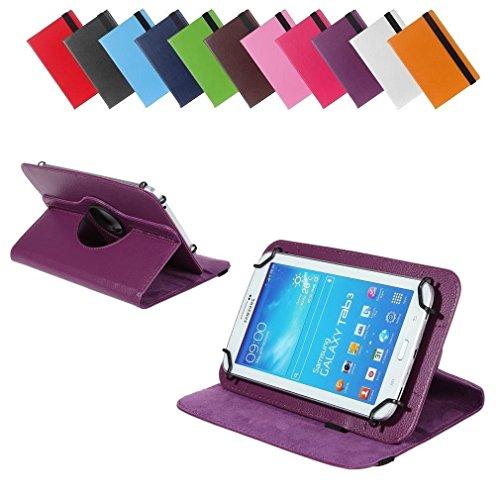 BRALEXX Universal 360° Tablet Tasche passend für Allview Viva H7 Extreme, 7 Zoll, Violett