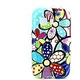 Para Galaxy Young 2 G130 , TUTUWEN Fresco Colorido Flower[Flexible Suave TPU] Bumper Case Protector Rear Tapa Funda Carcasa Cover para Samsung Galaxy Young 2 SM-G130