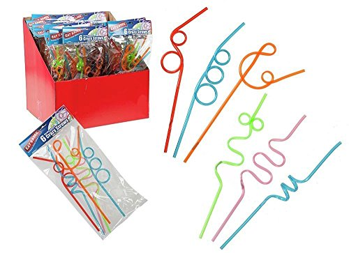 coloured-kids-crazy-curly-drinking-straws-childrens-party-bag-filler-24-straws