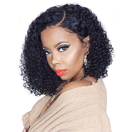 Schöne Königin Glueless Spitze-Front-Perücke brasilianische Tiefe Welle Kunsthaar Perücke Natürliche Hairline-Perücken für Schwarze Frauen (14 Zoll)