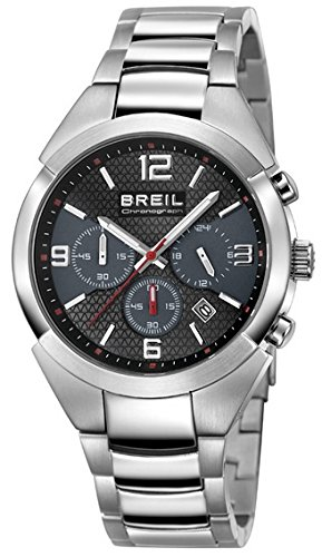 Breil orologio da polso uomo analogico al quarzo one size, antracite, argento