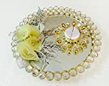 Loops n knots Yellow Wedding/Engagement Ring Platter/Holder/Tray