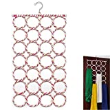 #9: Dice 28 Circle Semi-Round Slot Closet Multipurpose All-in-One Hanger for Dress | Scarf | Tie | Belt | Shirts | Coat