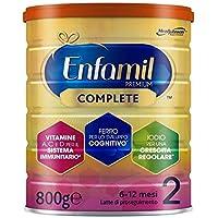 Enfamil Premium Complete 2 Latte di Proseguimento per Bambini dai 6 ai 12 Mesi, 800 Grammi