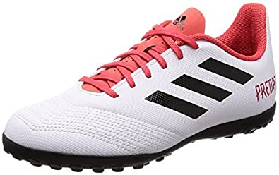 adidas Unisex-Kinder Predator Tango 18.4 TF Gymnastikschuhe, Mehrfarbig (FTWR White/Core Black/Real Coral S18), 38 EU