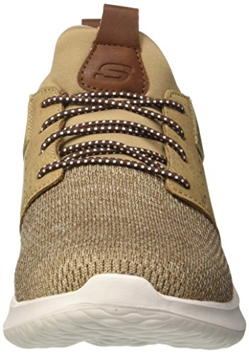 Skechers Delson-Camben, Sneaker Uomo Marrone (Light Brown)