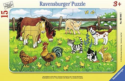 Ravensburger 25 Puzzle (Ravensburger 06046 - Bauernhoftiere auf der Wiese)