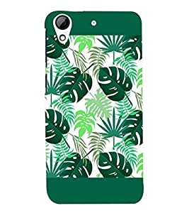Fuson Premium Green Leaves Printed Hard Plastic Back Case Cover for HTC Desire 626G+