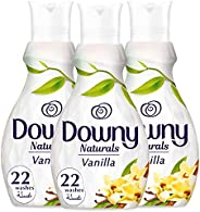 Downy Naturals Concentrate Fabric Softener Vanilla Scent, 3 x 880 ml