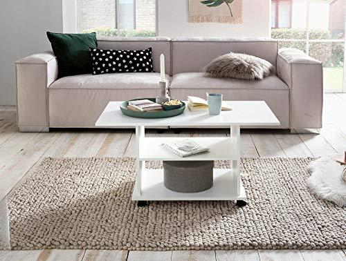 Tavolino Da Salotto Con Rotelle.Ks Furniture Wl5 738 Tavolino Da Salotto Con Ruote 95 X 51 X 54 5 Cm Colore Bianco