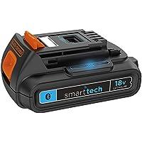 BLACK+DECKER BL1518ST-XJ Batteria al Litio 18V-1.5Ah Smart Tech, 18 V, Arancione, Nero