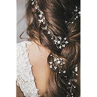 Jovono Headpieces Long Hair Vine nuziale capelli gioielli accessori per  capelli fascia per sposa e damigelle 5697a10a3a96