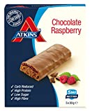 Atkins Barrita Advantage Chocolate & Raspberry Barritas - Paquete de 5 x 30 gr - Total: 150 gr