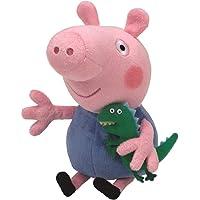 TY 7146130 - Peppa Baby - George, Schwein mit kleinem Dinosaurier, 15 cm