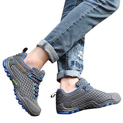 Moika scarpe uomo scontate scarpe da escursione scarpe da passeggio antiscivolo scarpe da passeggio per il tempo libero da viaggio(235/38, grigio)