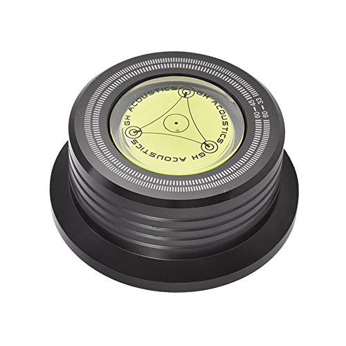 Fosa Plattenspieler Platte Gewicht, 60Hz Record Clamp Disc Rekord Stabilisator mit Wasserwaage für LP Vinyl Record Player(Schwarz) (Player Record Plattenspieler)