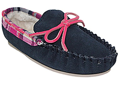 Ladies Cushion Walk Real Leather Suede Faux Fur Lined Warm Winter Moccasin...