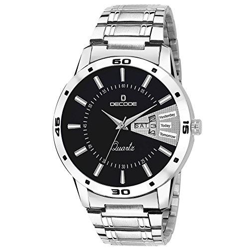 Decode 5040-CH Black Matrix Collection Day & date Watch for Men/Boys