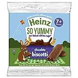 Heinz Reduced Sugar Chocolate Biscotti, 7 months +, 60g