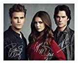 The Vampire Diaries - Paul Wesley & Nina Dobrev & Ian Somerhalder Signiert Autogramme 21cm x 29.7cm Plakat Foto