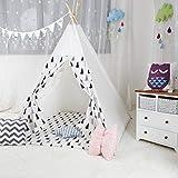 Apuytect Kiefer Kinder Tipi-Zelt mit Tragetasche für Kinder und Outdoo