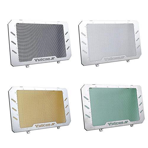 Aluminio Acero inoxidable Protector de radiador Cubierta de la parrilla Enfriador de aceite Bisel Protector de la parrilla para 2015-2018 Kawasaki Vulcan S EN VN 650 VN650 2016 2017 15-18 (Negro)