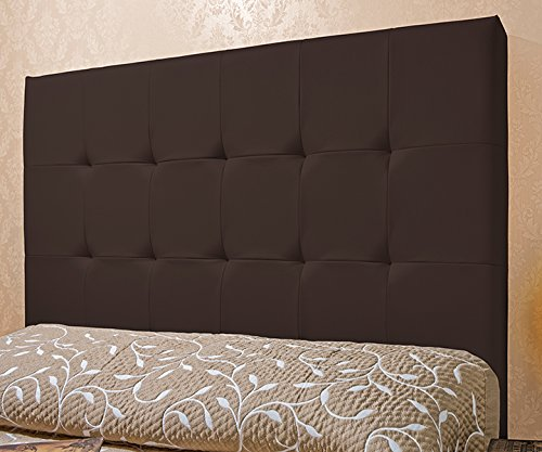 Cabecero Tapizado Luxury Capitone (Cama de 140/150 cm, Chocolate)