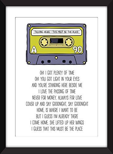 Talking Heads This Must Be The Place Lyrics Unframed Print / Ungerahmter Druck Uk Home Zubehör