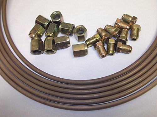 Honda 3/40,6 cm 7,6 m Kunifer Cupro Nickel Tuyau de frein avec 20 Syndicats Écrou 10 x mâle X 10 femelle sans soudure 10 mm x 1 mm