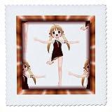 3dRose qs_28761_1 Steppdecke, Motiv Tanzende Animes,