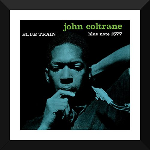 Tallenge Music Collection - Jazz Legends - John Coltrane - Blue Train - Album Cover Art - John Coltrane - Premium Quality Large Framed Poster (24 x 24 inches) For Home and Interior Decorations
