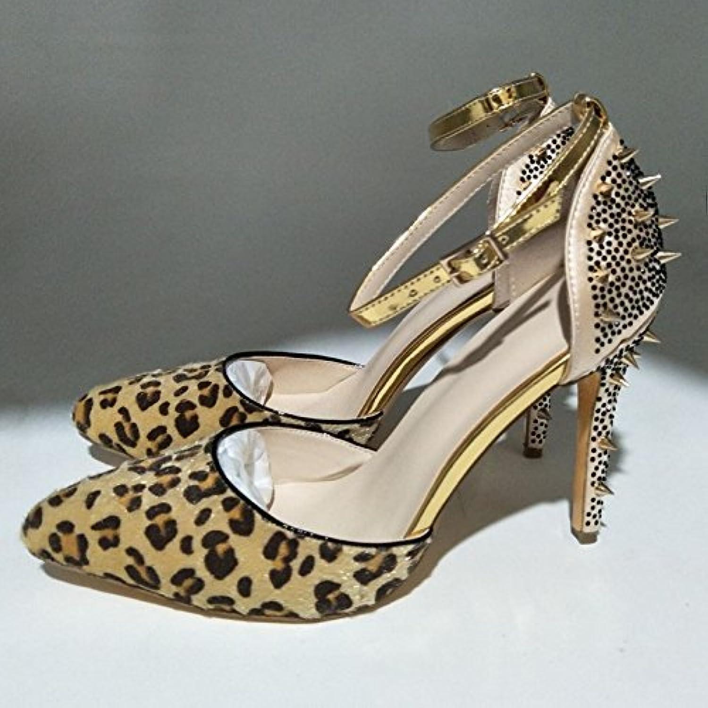 VIVIOO Prom Sandals scarpe,Elegant And Stylish,Flock,11 Cm High-Heeled scarpe,Pointed Toe Pumps.Dimensione 34-45,Multi,10 | Il Prezzo Ragionevole  | Uomo/Donne Scarpa