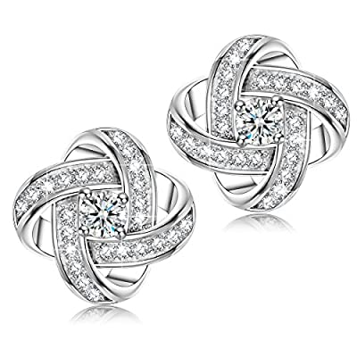 "NINASUN ""Silk of Love"" 925 Sterling Silver Women Piecered Earrings AAA Zircon"