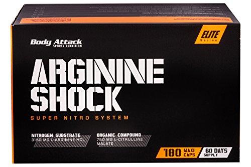Body Attack Arginine Shock, 1er Pack (1 x 180 Kapseln)