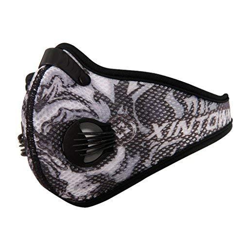 SKYSPER Máscara Carbono Activado Antipolución Antipolvo Máscara para Ciclismo Mascarilla con Filtro de Aire para Contaminación, Gas de Escape, alergia al Polen, PM2.5, Correr, Ciclismo, Moto