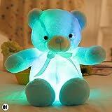 Teabelle Colorfu Light up LED Bär Stofftiere Plüsch, 30cm Blau