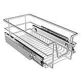 Homelux Teleskopschublade Küchenschublade Schlafzimmerschublade Verchromt für Schrankbreite 30 cm