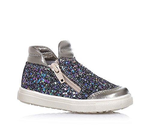 CIAO BIMBI - Sneaker in pelle e glitter, curata in ogni dettaglio ed in grado di coniugare stile, qualità e sicurezza, con chiusura a zip laterale, Bambina, Ragazza-23
