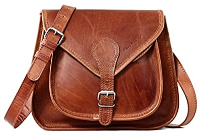 LA BESACE cuir couleur naturel sac à main style bohème PAUL MARIUS, Narurel, Small