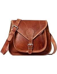 LA BESACE cuir couleur naturel sac à main style bohème PAUL MARIUS
