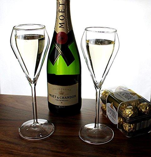 Cosy Trendy Champán Cristal 4pieza Champagne Cristal Vasos Bélgica