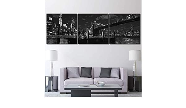 Canvas Paintings Living Room Home Decor HD Prints 3 Piece Brooklyn Bridge