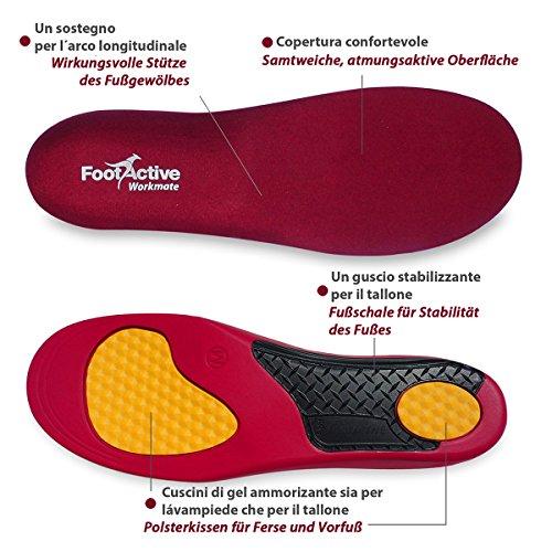 FootActive WORKMATE - Ideal für Alltag und Beruf - Schützt Ihre Füße auf harten Oberflächen - 44-46 (L) - 4