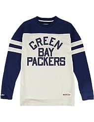 "Green Bay Packers Mitchell & Ness NFL ""Swing Pass"" Men's Heavyweight L/S Shirt Chemise"