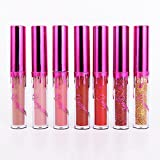 Petansy Shimmer Matte Lipstick Set Bling Bling Wasserdichte Lip Gloss 7 Farben