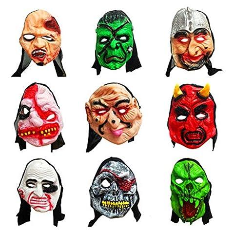 Masques Drôles De Halloween Adultes - AAAHOMEEU 2Pcs Masque de mascarade pour adultes