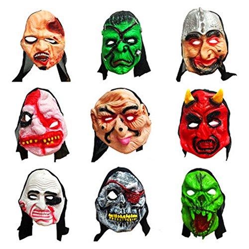 AAAHOMEEU 2Pcs Erwachsene Masquerade Maske Terrorist tricky ganze Maske Halloween Ghost Festival Atmosphäre Layout (Ideen Erwachsene Paare Kostüme)