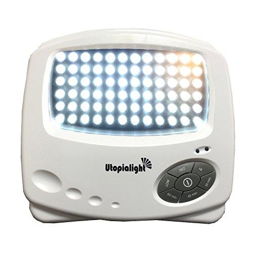 Tageslichtlampe Utopia - LED Energieeffiziente HÄLFTE der Energiekosten + Dauern DREI Mal Länger - Medizinprodukt 10,000 Lux + Timer + 12 Monate Garantie Lichttherapiegerät Lichttherapie Lichtlampe
