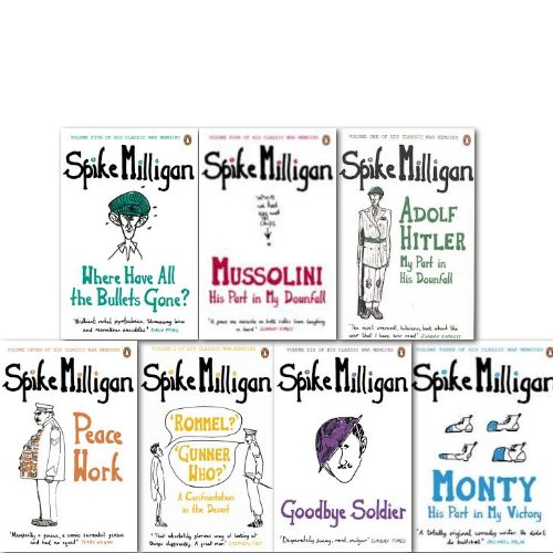 Spike Milligan Classic War Memoirs Collection 7 Books Set (Adolf Hitler my pa...