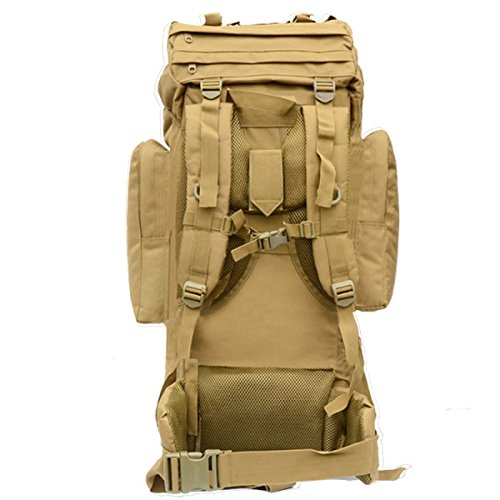 LAIDAYE Außentasche Bergsteigen Tasche Rucksack Camping Wanderrucksack Bulk-Taschen Taschen Rucksäcke Beige